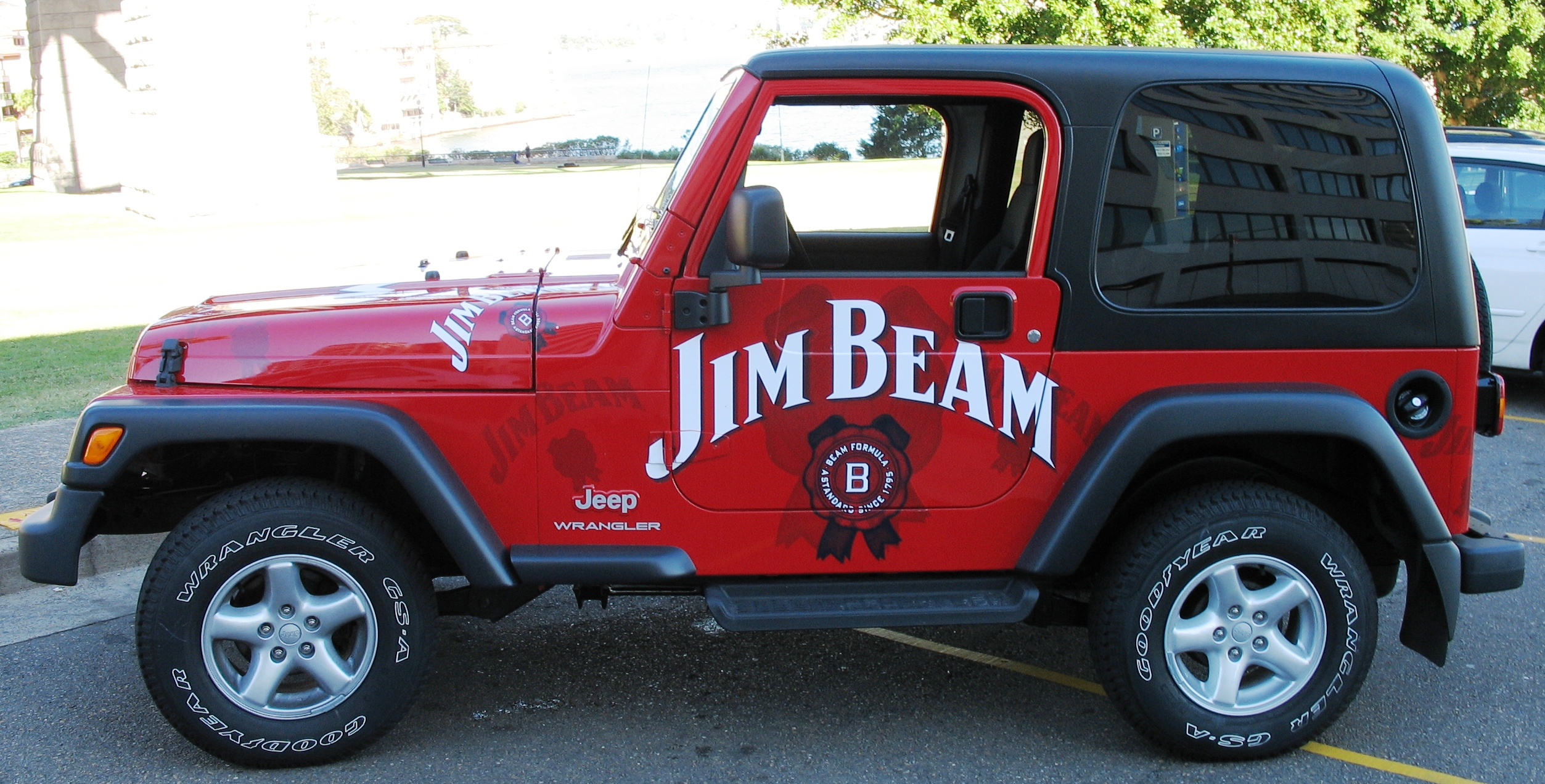 Fleet graphics. Jim Beam Jeep. Alcohol sampling and promotions. Vehicle graphics.