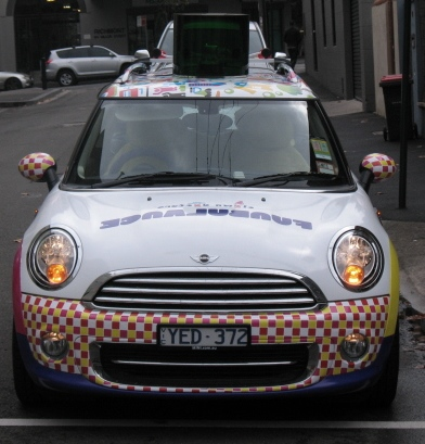Vehicle-based events. Custom build. Fleet graphics. Vehicle Wraps. The new Mini Cooper. Clown Doctors Funbulance. After Shot.