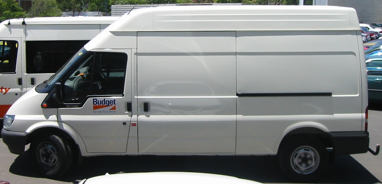 Truck advertising. Vehicle-based events. Custom build. Fleet graphics. Truckside advertising. The Omomobile - Clean up with Omo campaign. Ford Transit van before modifications.