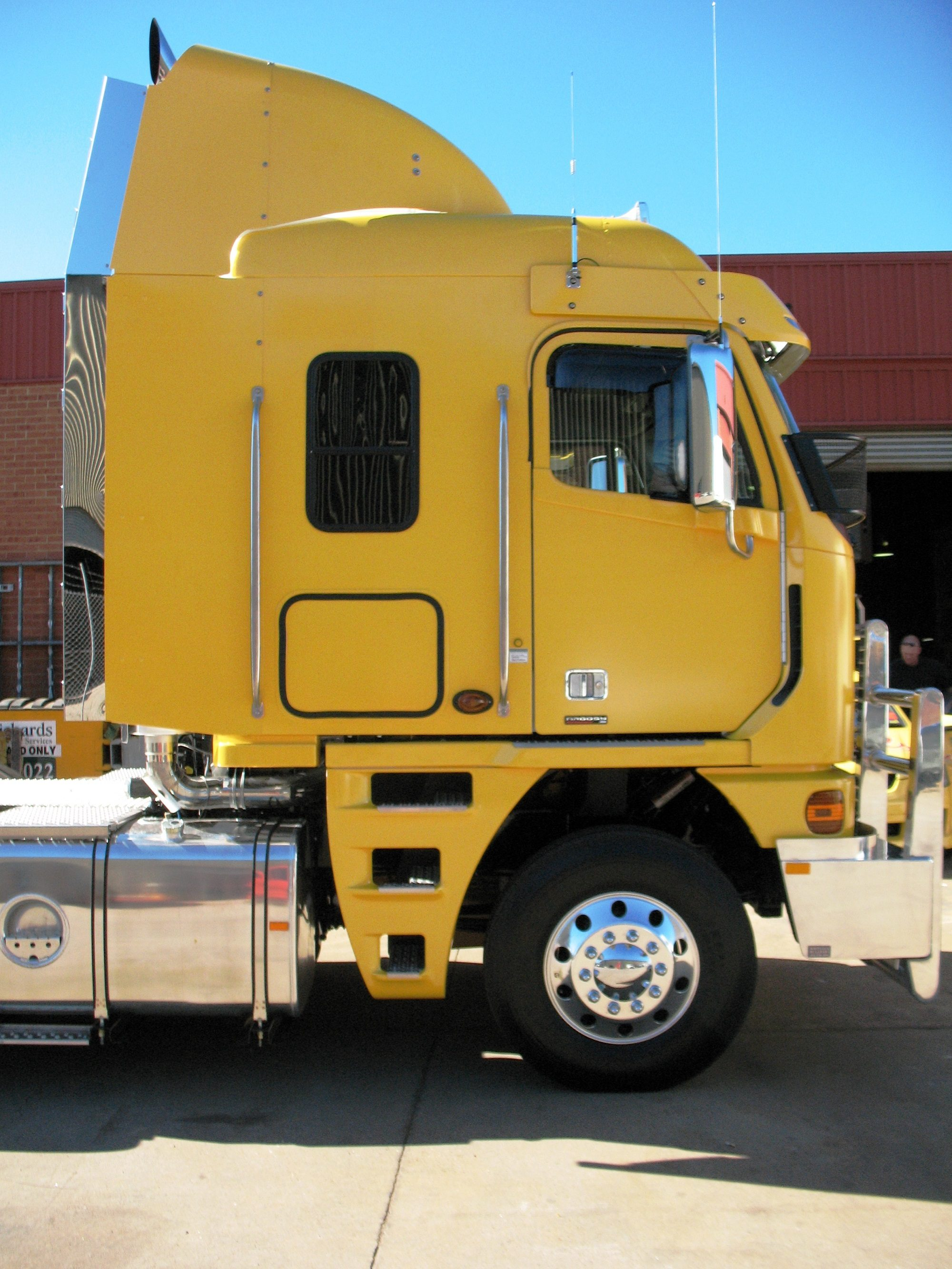 Truck advertising. Vehicle-based events. Custom build. Fleet graphics. Truckside advertising. XXXX Gold Retreat Prime Mover. Freightliner Argosy cabover.