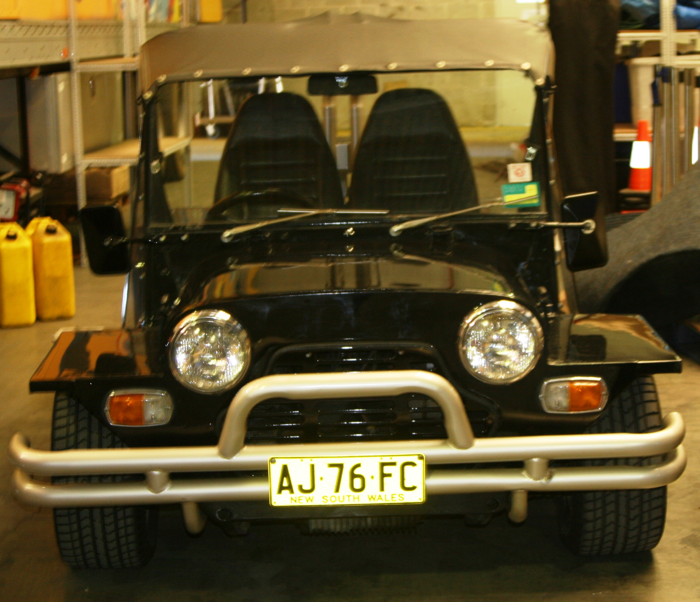 Vehicle-based events. Custom build. Fleet graphics. XXXX Mini Moke. 4XMOKE. Before modifications.