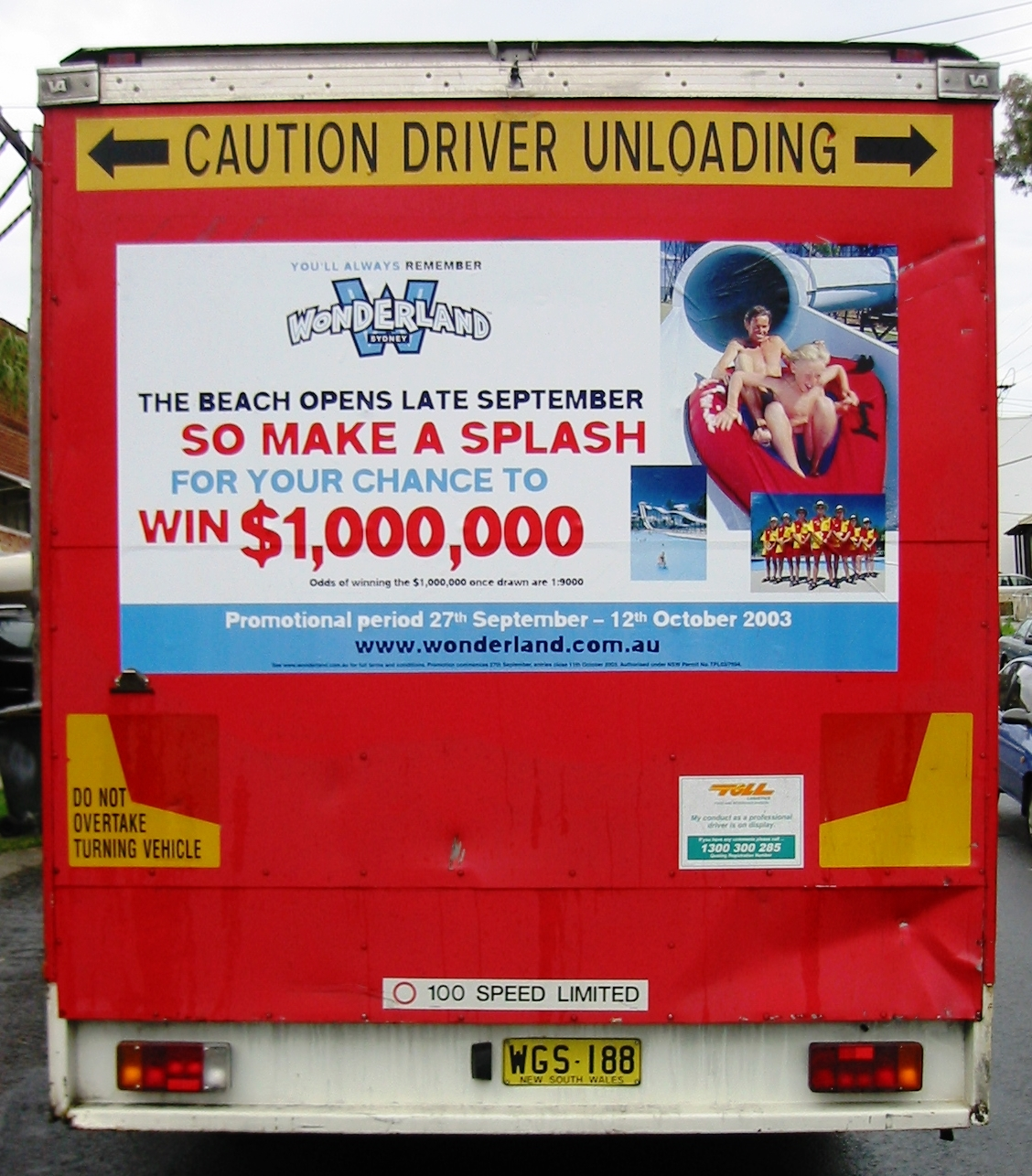 Fleet graphics. TruckBacks. Coca Cola. CCA. Wonderland promotion 2003. CocaCola South Pacific. Toll. Flatback.