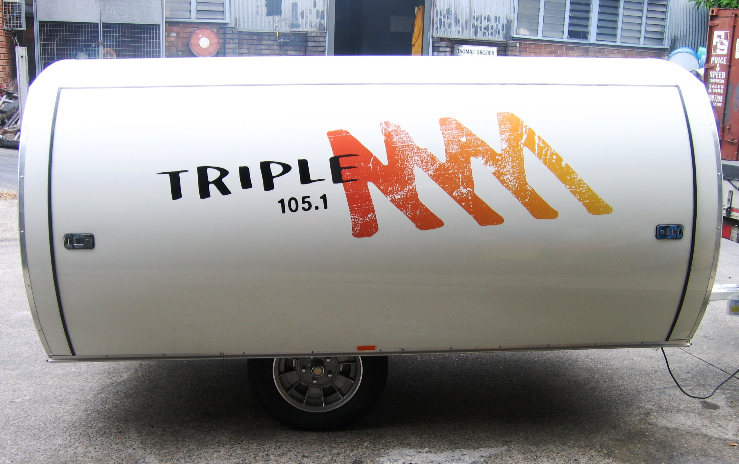 Fleet graphics. Triple M Austereo Melbourne trailer. Radio station promotions.